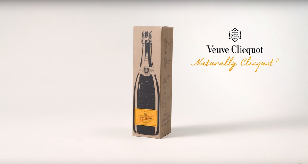Naturally Clicquot, il packaging fatto con la buccia